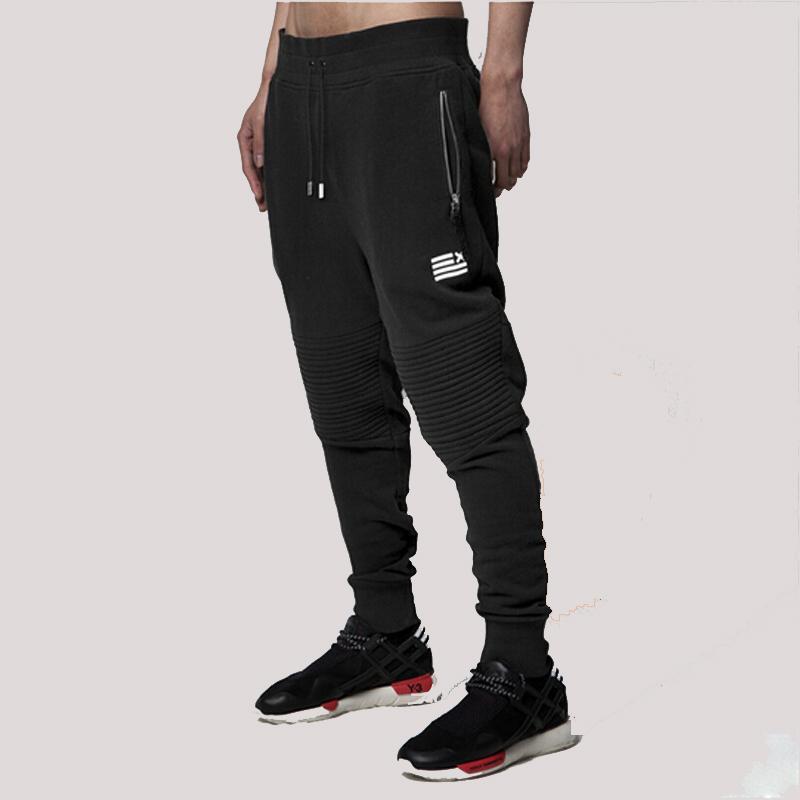 1601 Hombres basculador pantalones negros pitillo motorista Joggers  ocasionales elásticos Gemelos Track para hombre Pantalones atléticos  pantalón Pant sudor ... 00fc97399c3