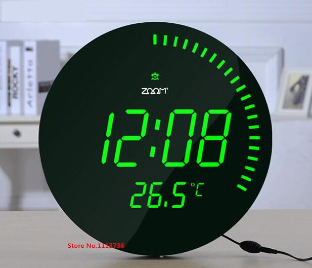 Creative Large Led Digital Wall Clock Modern Design Home
