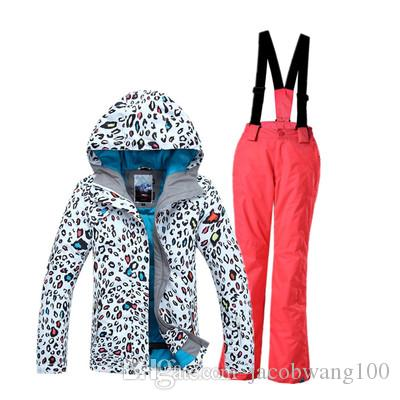 bd1c2449c4 2019 Kids Ski Suit Girls Ski Jacket Ski Pants Children Ski Wear Gsou Snow  Parent Child Suit Leopard Print From Jacobwang100
