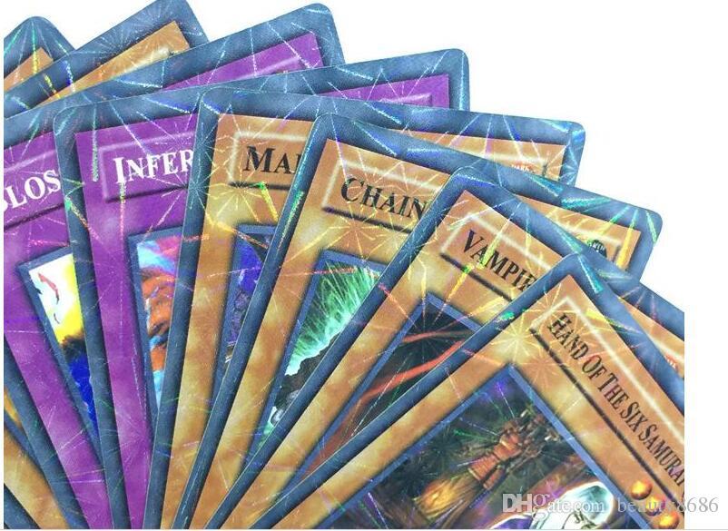 Vente chaude ~! / Yugioh Flash Cartes Bébé Jeu De Cartes Jouets Version Anglaise Garçons Filles Yu Gi Oh Collection Jeux Cartes Cadeau De Noël