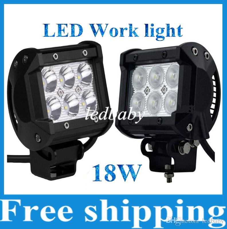 Unique 18w Cree Led Work Light Bar Motorcycle Tractor Boat froad 4wd 4x4 Motor Bike Truck Suv Atv Spot Flood Beam Lamp 12v 24v Portable Rechargeable Led Work Amazing - Unique best led light bar for the money Photo