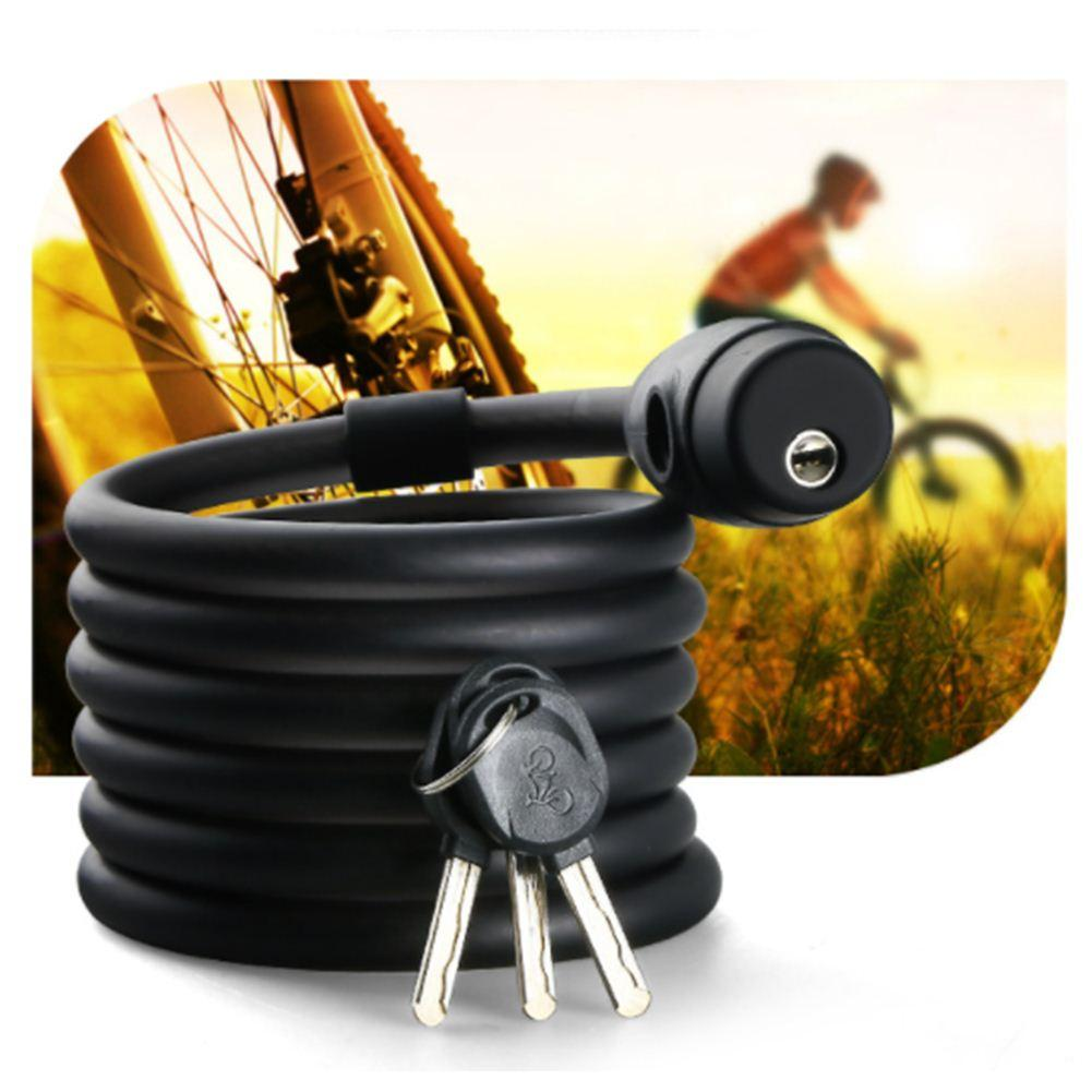 1.4M Steel Wire Cable Anti Theft Cycling Lock Mountain Bicycle Bike Security Lock 3 Keys Cycle Chain Lock Accessory Tool