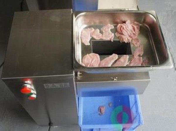 Großhandel - Vertikale Typ Fleischschneidemaschine, 220V / 110V Fleischschneider Slicer, 500kg / Stunde / Frische Fleischschneidemaschine