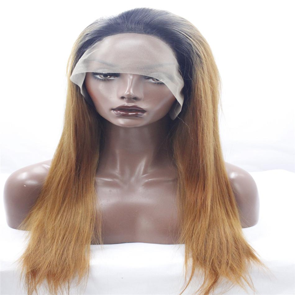 lace front wigs dark wig with two shades of brown and a long black hair with long body Straight hair African American fashion wig kabell wig