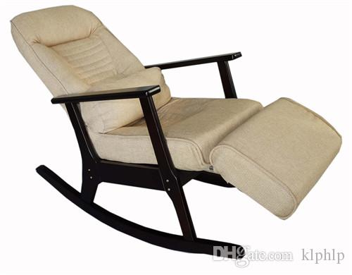 Beau Rocking Chair Recliner For Elderly People Japanese Style Recliner Chair  With Foot Stool Armrest Modern Large Recliner Lounge
