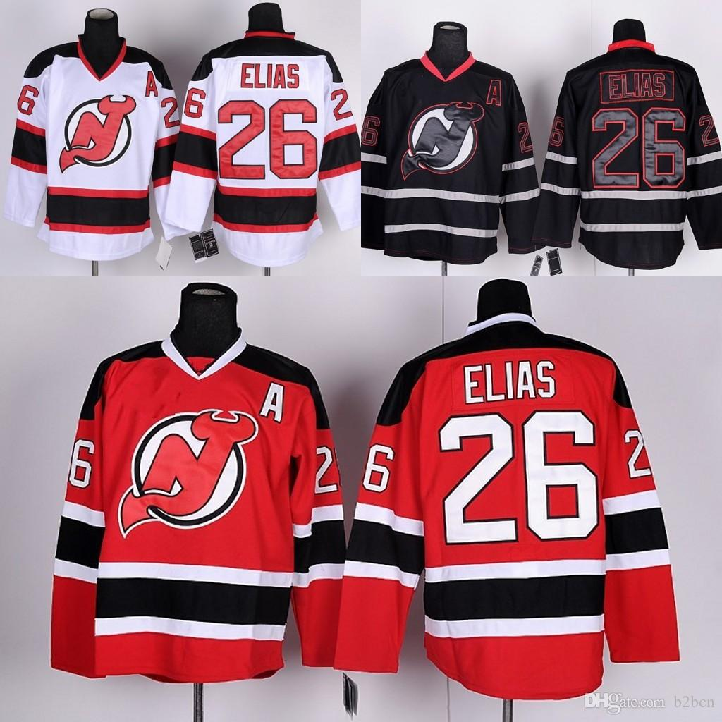 2019 2017 Men S New Jersey Devils Ice Hockey Jersey  26 Patrik Elias Jersey  Red White Black A Patch Cheap Stitched NJ Devils Jers From B2bcn 72c698cc7