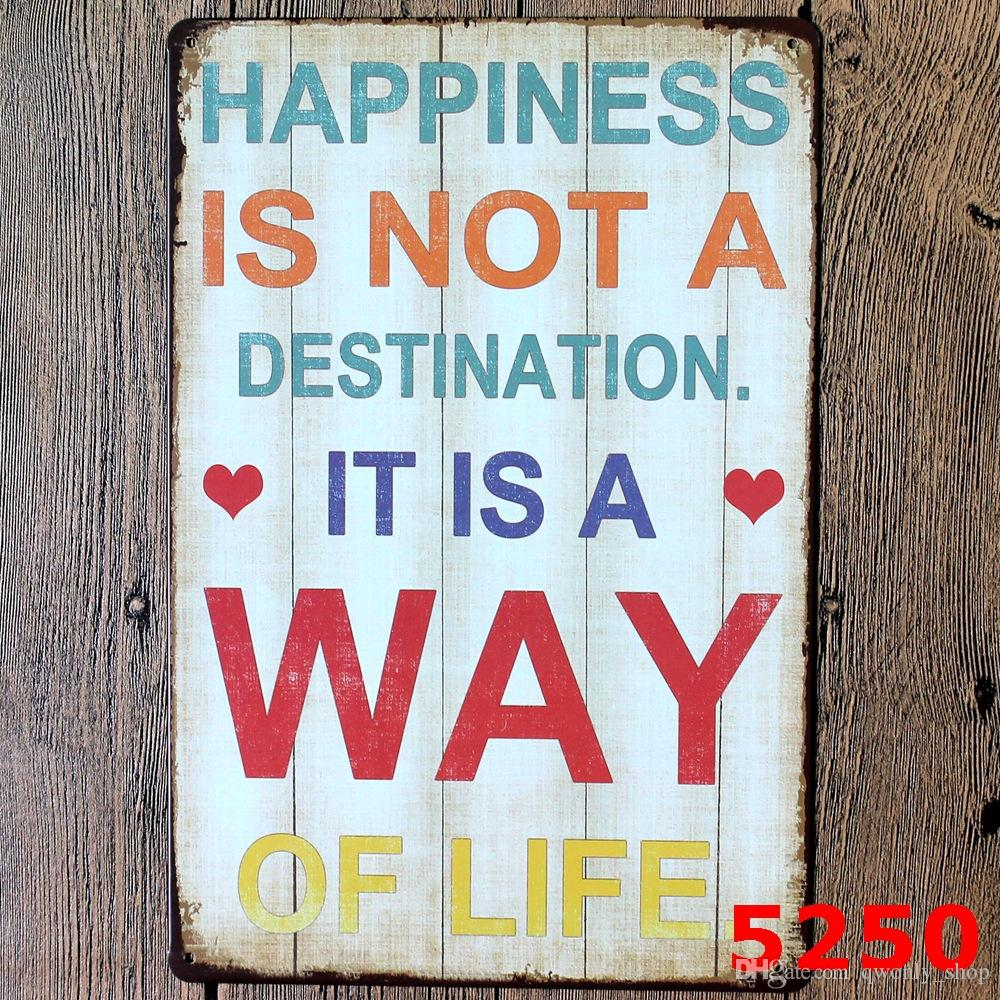 Metal Wall Art Vintage Home Decor - Life Quote Metal Tin sign House Decoration Large Size 20x30cm