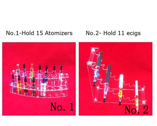 Akrylowy E Cig Display Stand Stand Elektroniczny Papieros Stojak Półka Półka Stojak Dla E Papieros E-Cig Ego Bateria Vaporizer ECIGS Mod Drip Tip