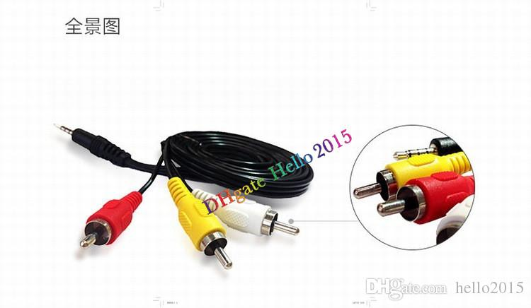 Brand New 3.5mm Jack to 3 x RCA Phono Lead Audio / Video AV Cable 1.2M