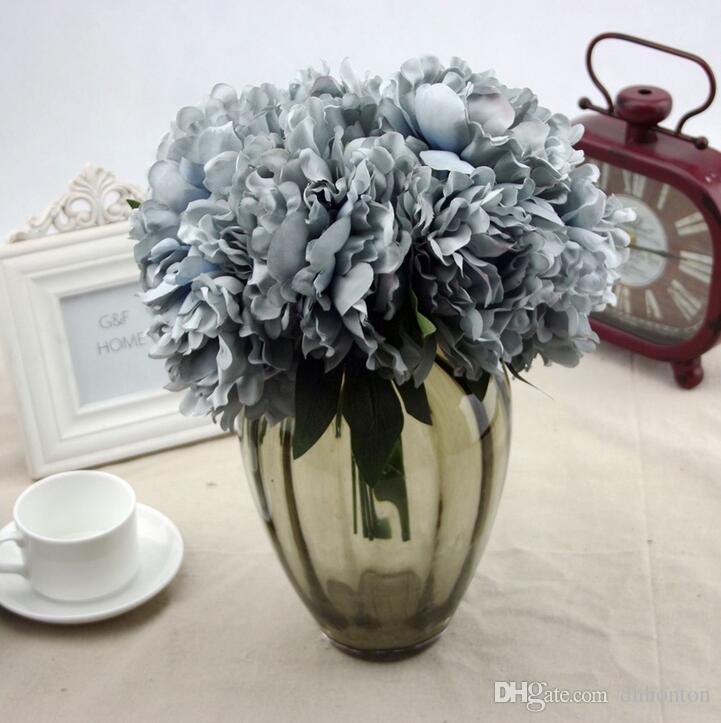 Hydrangea Bouquet Becautiful Artificial Craft Hydrangea Bouquet for Home Party Wedding Decoration Fake Bridal Silk Flowers SF011