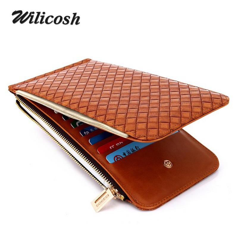 98f2ab740175 2019 Wilicosh Korea Fashion Women   Men Wallets With Phone Pocket Leather  Money Clips Womens Purse Sollid Thin Wallet For Men Wl419 From Dhcomcn