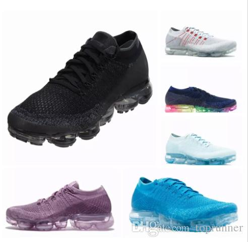 New Vapormax Running Shoes Weaving Racer Ourdoor Athletic Sporting Walking  Sneakers For Women Men Fashion Pink Casual Maxes Size 36 45 Men Shoes  Online Best ...