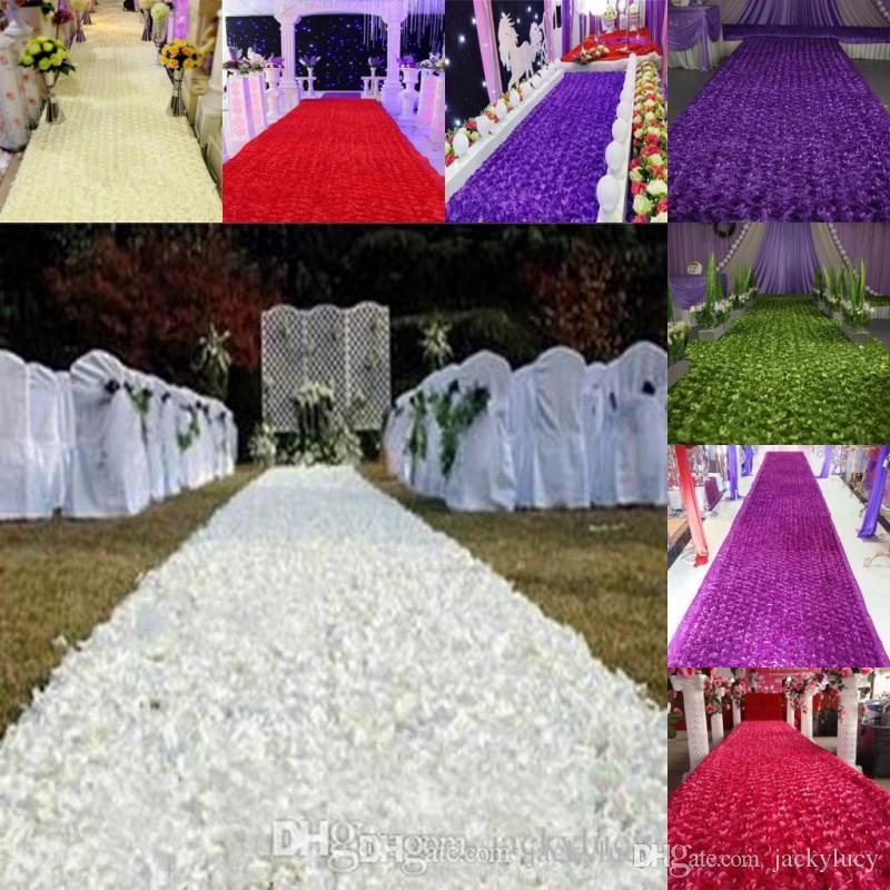 14 M Wide 50mfashion Wedding Decoration Aisle Runner Rose Flower