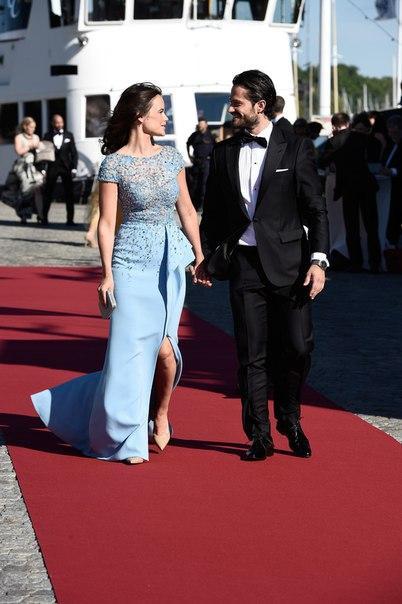 Sofia Hellqvist celebrity red carpet dresses on pre-wedding party dinner
