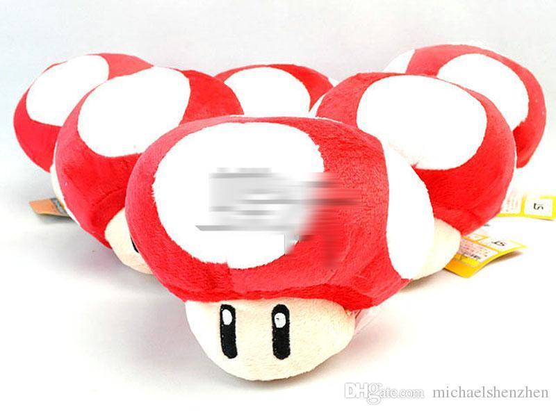 2 inch Super Mario Bros Mushroom With Key Chain Plush Doll 2015 new children Cartoon Super Mario Plush toys B001