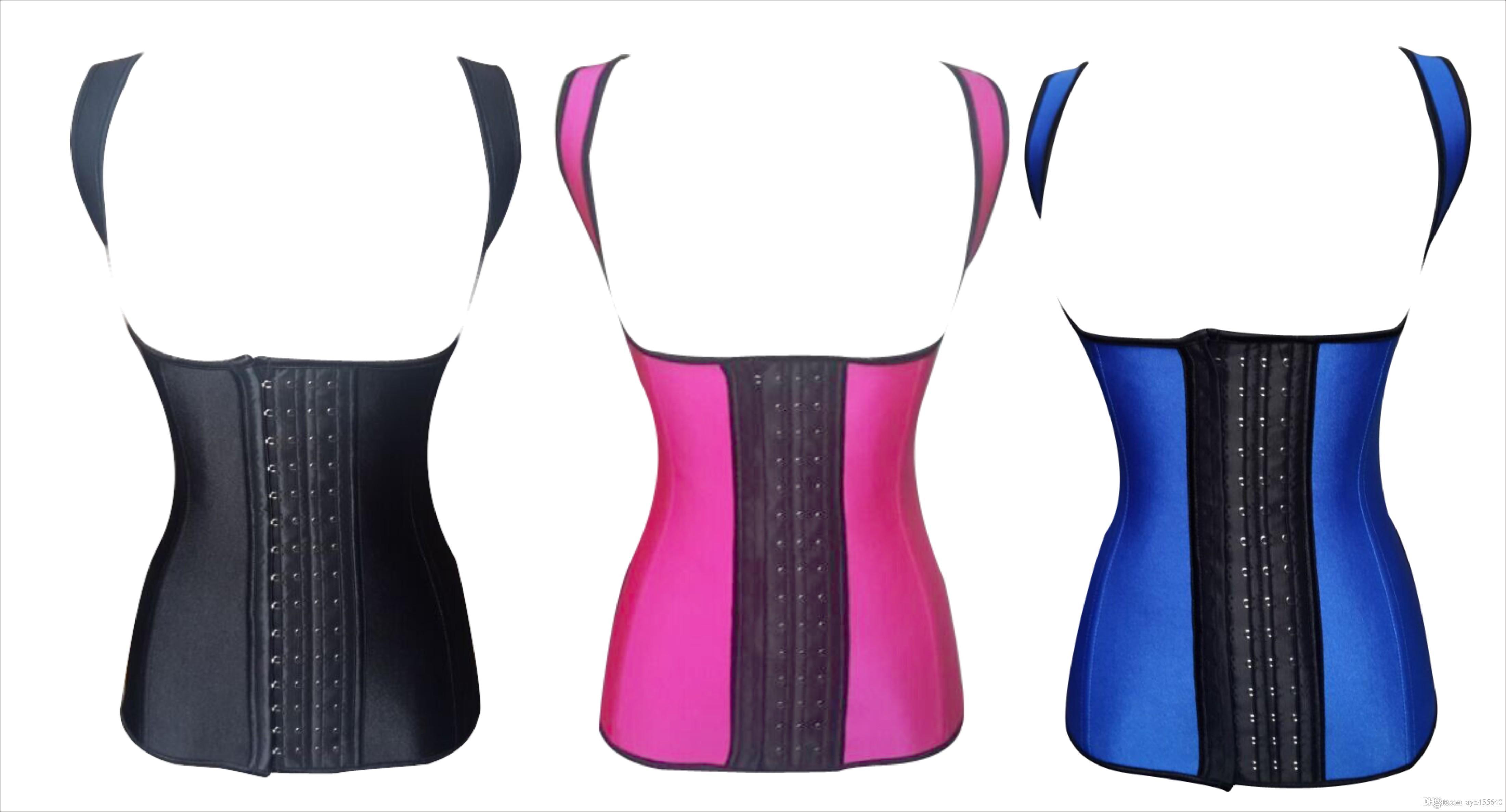 d50771a7de 2019 2015 Sexy Latex Body Shaper Steel Boned Waist Waist Training Corset  Vest Latex Waist Trainer Cincher Corset Postpartum Slimming Shapewear From  ...