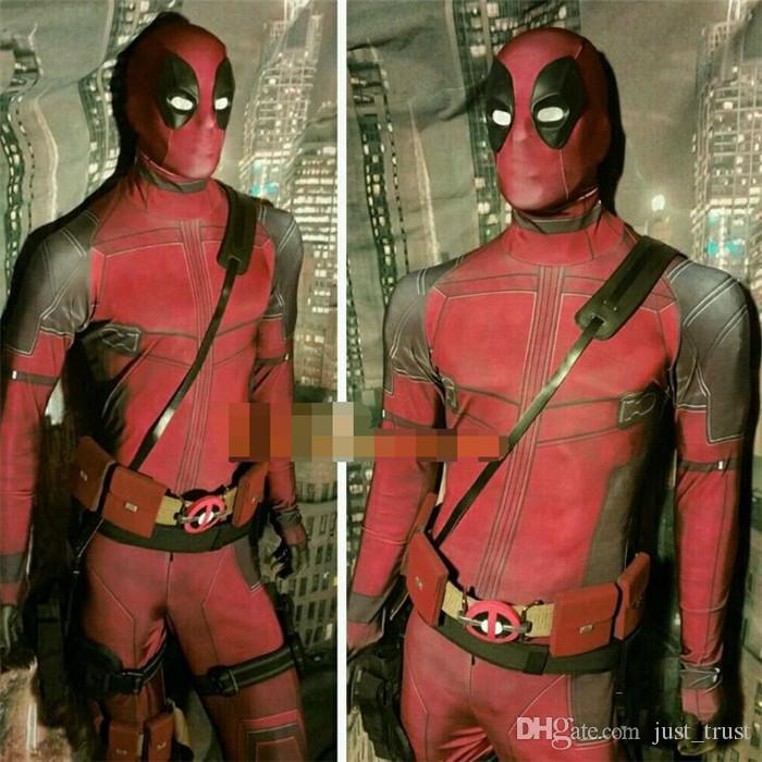 New The Avengers Deadpool Cosplay Costumes X man Fancy Costumes Slim tight Theme Costume Roleplay Headgear accessories Zentai Costumes mask