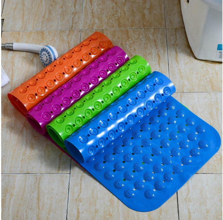 Bath Mats Antislip Massagem Mats colorido Banho Pierced plástico PVC Pad seguro com ventosas