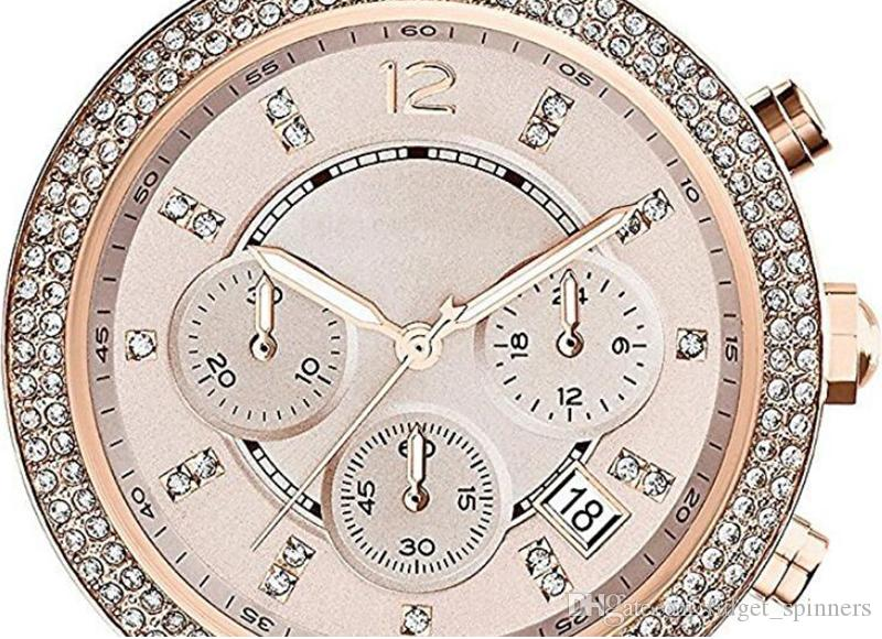 Fashion Quartz Women's Watch Rose Gold Dial Stainless Steel Ladies Wristwatch Gift For Women 5896 with box