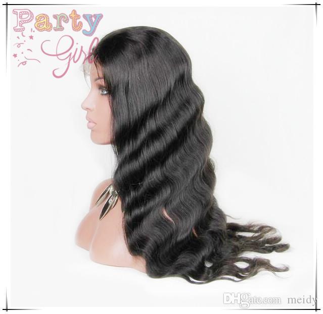 Brasilianisches Jungfrau-Haar Glueless volle Spitze-Menschenhaar-Perücken für schwarze Frauen-Spitze-Front-Perücke 100 Menschenhaar-Perücke für Afroamerikaner
