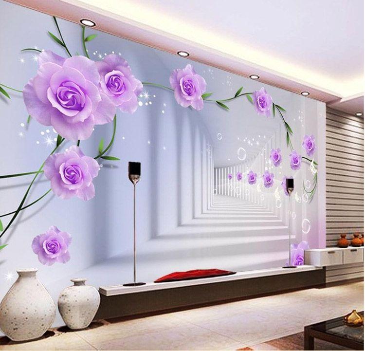 Gro handel elegante fototapete benutzerdefinierte 3d for Elegante wandbilder