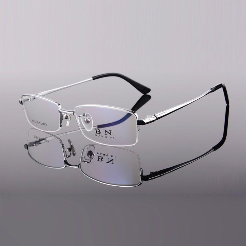 b372fb69b39 Wholesale-Titanium Eyewear Optical Frame Half Rim Reading Glasses ...