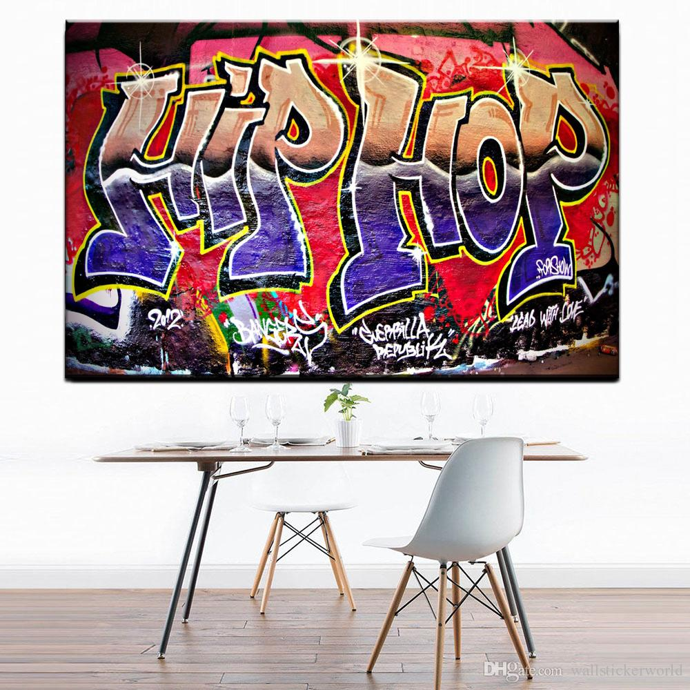 Graffiti Street Art Hip Hop Paintings On Canvas Modern Wall Pictures For Living Room Home Decor No Frame Oil Painting