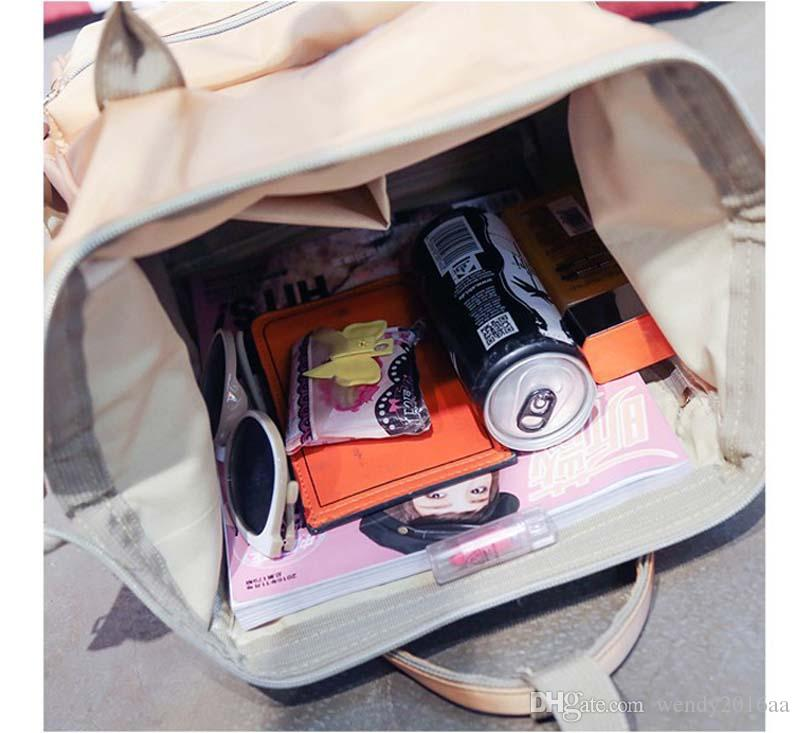 2017 New Desinger Mommy Backpacks Nappies Bags Girl Nylon Large Capacity School Bags Large Volume Outdoor Travel Bags