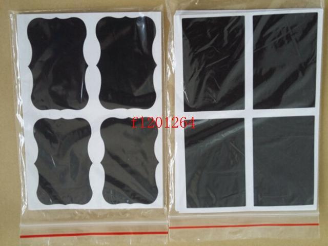 35*50mm Blackboard Sticker Craft Kitchen Jar Organizer Labels Chalkboard Chalk Board Stickers Black