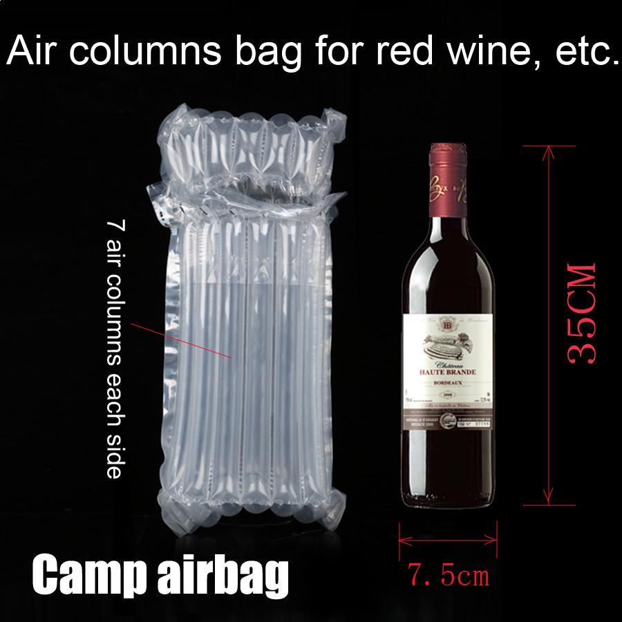Надувные бутылки вина 35см Air пневмооболочка воздушной подушке Колонка 3 см Wrap Сумки Buffer Bag Защитите ваш продукт хрупкими товары