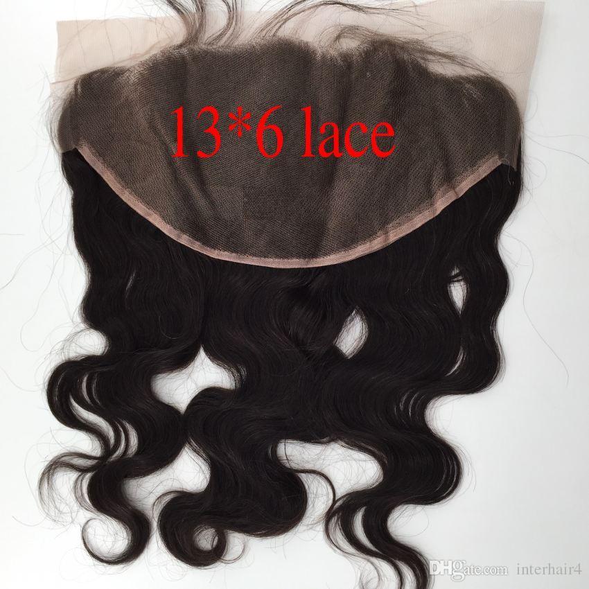 Corps brésilien vague avec fermeture frontale en dentelle et faisceaux non transformés de cheveux humains vierges 3 faisceaux avec de grandes fermetures