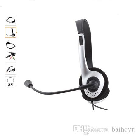 2016 High Quality Earphone Headphone w/ Microphone MIC VOIP Headset Skype for PC Computer Laptop