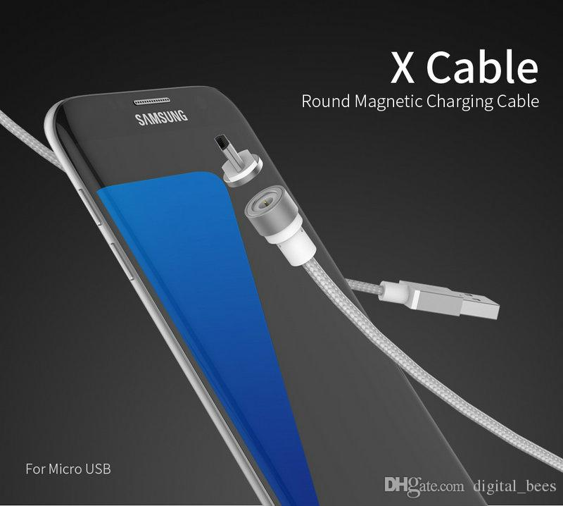 low priced ba585 e2b60 3 in 1 Magnetic Cable for iPhone 7 Plus Fast Charging for iPhone 8 USB Type  c cable Micro USB Cable for Samsung