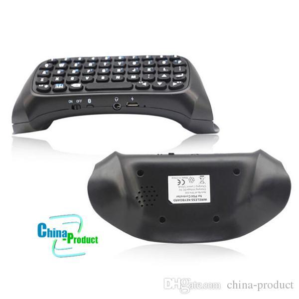 미니 PS4 무선 블루투스 키보드 PS4 게임 컨트롤러 게임 패드 조이스틱 메시지 Chatpad 소니 플레이 스테이션 마이크로 USB 케이블 소매 010206