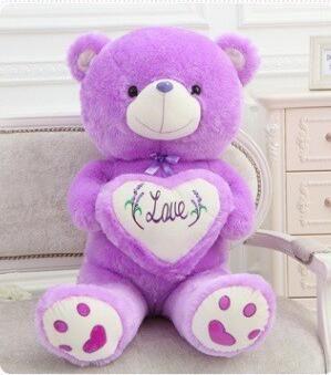 50cm 70cm Peluche ripiene Tenendo I Love You Cuore Big Plush Teddy Bear Soft Gift Valentine Day Birthday Girls