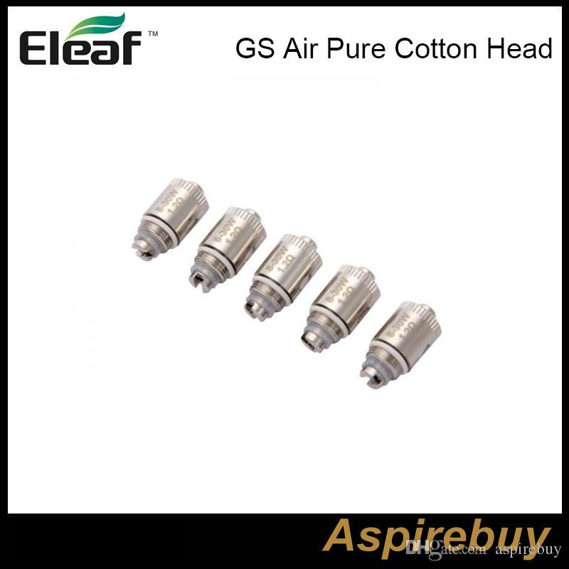 Eleaf iSmoka GS Air Puro cotone testa 1.2ohm 0.75ohm GSAir doppio bobine di ricambio testa bobina GS Air Tank GS Air 2 atomizzatore 100% originale