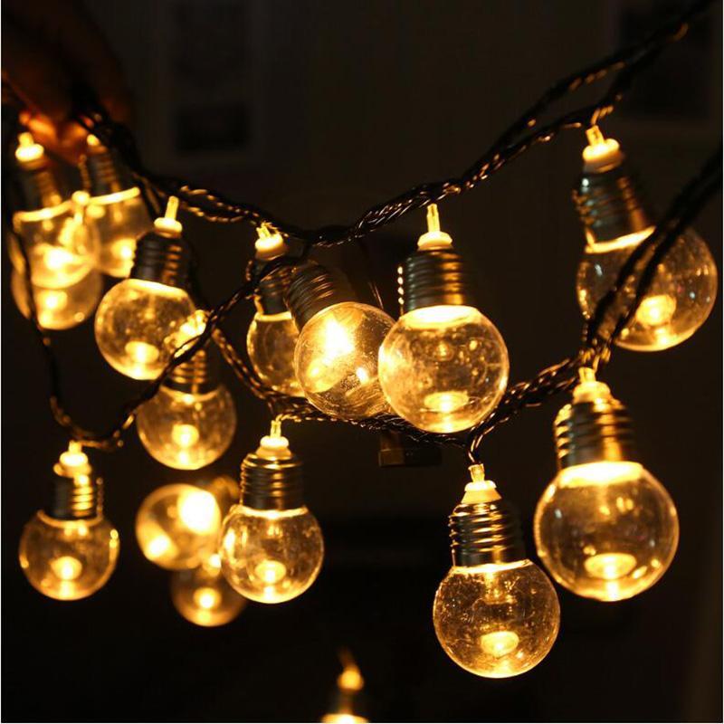 String Globe Lights Mesmerizing 60m 60 Led Clear Ball Globe Festoon Led String Light Eu Us Plug Party