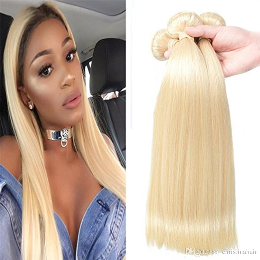 Discount European Blond 613 100 Unprocessed Remy Human Hair Weave