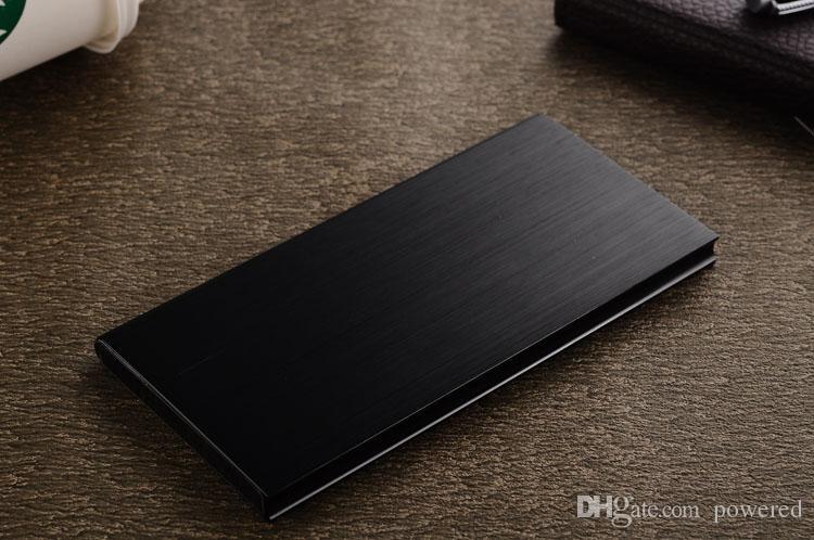 Ультра тонкий 12000 мАч Power Bank Безопасность аккумулятора USB Зарядное устройство Аварийный для мобильных iphone Android мобильных телефонов зарядные устройства Бесплатная доставка