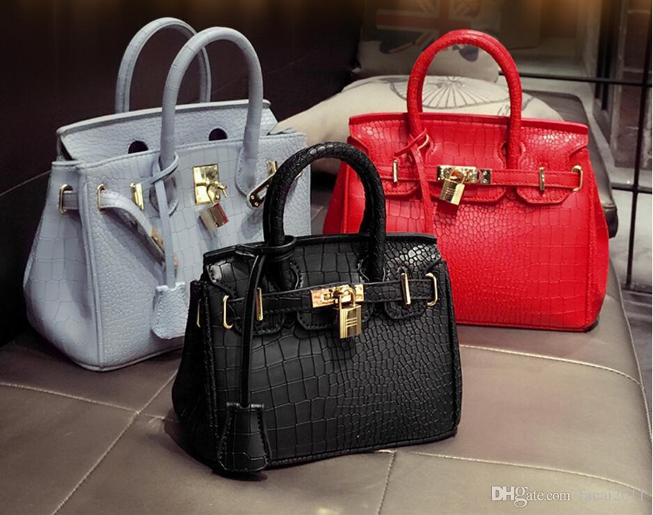 798008c9ddd9 New 2018 Winter Fashion Europe And America Platinum Bag Handbag Crocodile  Grain Lady Handbags Handbags Single Shoulder Bag Totes Bags Leather Totes  From ...