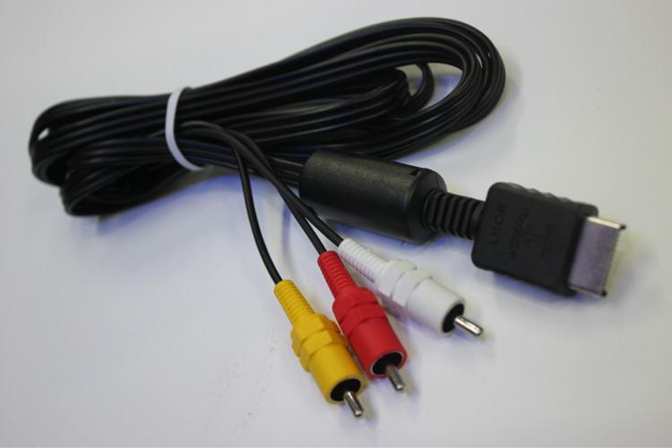 Cable de audio de 6 pies AV Cable de cable a RCA para Sony PlayStation 2 PS2 PlayStation 3 PS3
