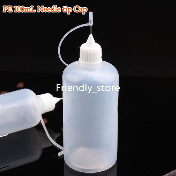 DHL Free 100 ml Nadelspitze Cap E flüssige E-zigaretten Flasche Großhandel Kunststoff Tropfflasche 100 ml Für Verkauf