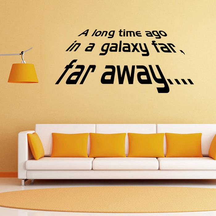 New Star Wars Wall Decals Far Away Quotes Vinyl Removable - Yellow wall decals