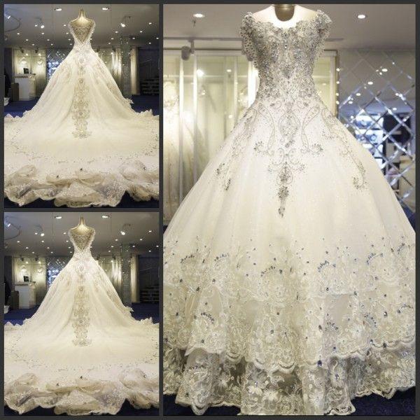 Diamond Bling Wedding Dress