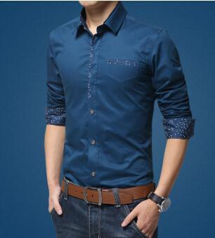Herren-Kleid Hemden Mode einfarbig weiß schwarzes business shirts baumwolle langärmelige tops plus größe kleidung 4xl 5xl