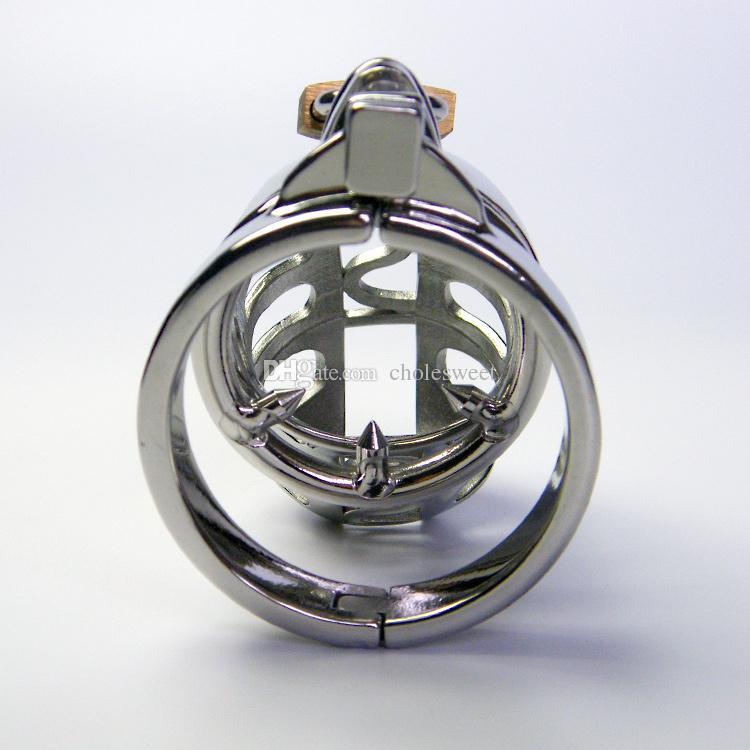 남성 정장 장치 수탉 항문 플러그, 304 스테인레스 스틸 순결 케이지 남자 정장 벨트 JJ 잠금 다른 크기의 반지