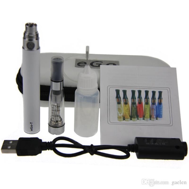 CE4 eGo Starter Kit Electronic Cigarette Zipper Case Single Kit E-Cigarette 650mah 900mah 1100mah Battery best price CE4 atomizer vaporizer