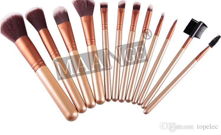 10 pz Donna maange Pennelli Trucco 12 PZ Set Cosmetico Ombretto Fard Kit Pennello Nero Custodia il trucco Make up Brush Maquiagem