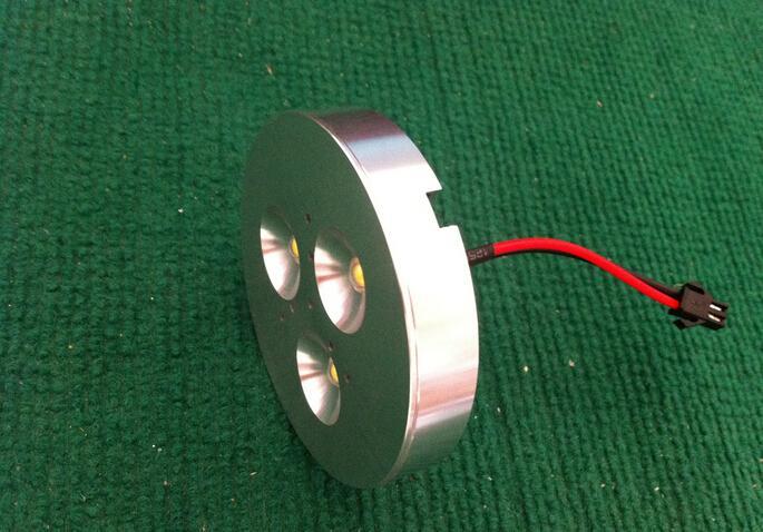 3x3 W Dim LED Altında Kabine Işık Puck Işık Mutfak aydınlatma için Yüzey Sıcak / Soğuk beyaz