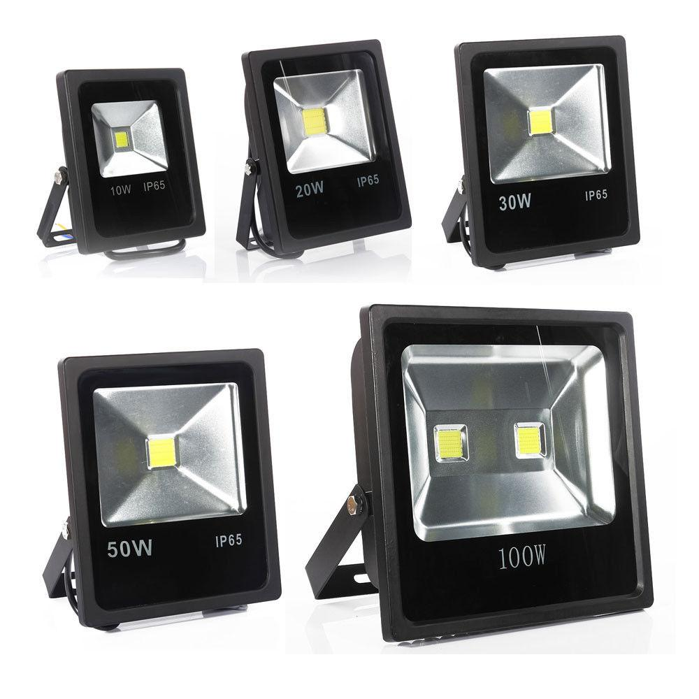 Beau 10w 20w 30w 50w 100w Outdoor Garden Led Flood Light Lamp Thin Slim  Waterproof Led Wall Wash Lights Ac 85 265v Led Floodlights Garden Flood  Lights Led Flood ...